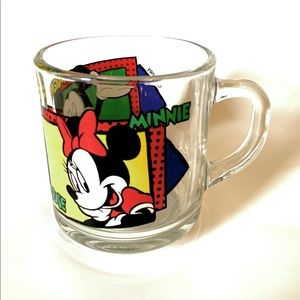 Early 90s Disney Mickey and Minnie Mouse Mug.
